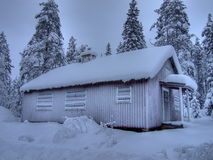 Winter house. Holliday cabin closed for winter Stock Photography