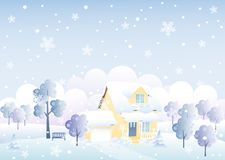 Winter house Stock Photo