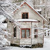 Winter house Royalty Free Stock Photo