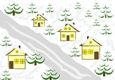 Winter house background Royalty Free Stock Photos