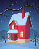 Winter House Stock Photos