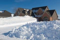 Winter House Stock Photo