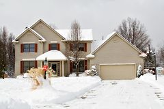 Winter House Ohio Stock Image