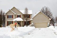 Winter House Ohio Stock Image