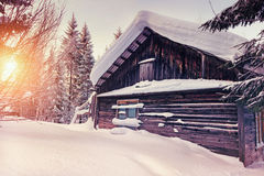 Winter house Stock Image