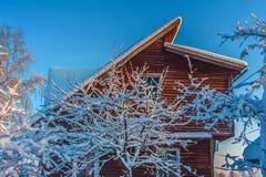 Winter house Stock Photos