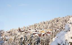 Winter houses Stock Photo