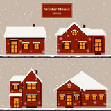 Winter houses collection Royalty Free Stock Image