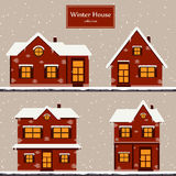 Winter houses collection Stock Photography