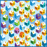 Winter houses pattern Royalty Free Stock Photography