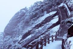 Winter Huangshan lizenzfreie stockfotos