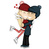 Winter hugs Stock Images