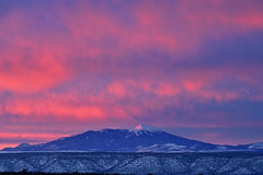 Winter Humphreys Peak Royalty Free Stock Photos