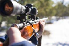 Winter hunting Stock Photo