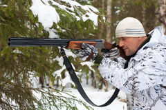 Winter hunting Stock Photos