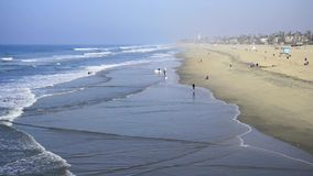 Winter in Huntington Beach stock video footage