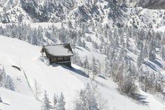 Winter Hut Stock Photo