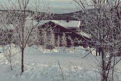 Winter hut Royalty Free Stock Images