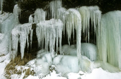Winter ice. In Harriman State Park Stock Photos