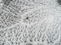 Winter ice cracking landscape - Aerial view. Planet Earth Eco Stock Photography