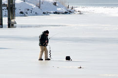 Winter ice fishing Stock Photography