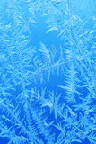 Winter ice frost, frozen background. frosted window glass textur Royalty Free Stock Photography