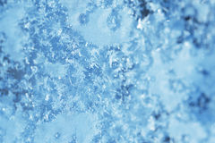 Winter ice frost, frozen background. frosted window glass textur Royalty Free Stock Photos