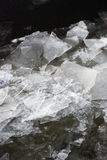 Winter ice, frozen river Stock Images