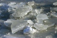Winter Ice Lake. Deeply frozen lake in wintertime royalty free stock image