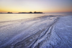Winter ice landscape. Royalty Free Stock Images