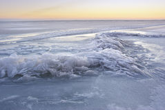 Winter ice landscape. Royalty Free Stock Photo