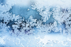 Winter ice rime abstract background Stock Photography