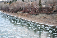 Winter ice river Royalty Free Stock Photography