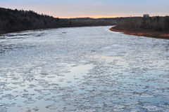 Winter ice river Royalty Free Stock Images