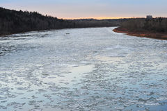 Winter ice river Stock Photography