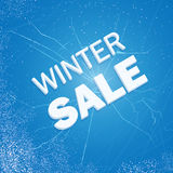 Winter ice sale set. Snow cold sale banner template. Christmas cracked ice discount design symbol. Stock Photography