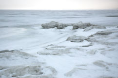 Winter ice sea. Stock Photo