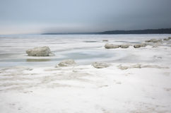 Winter ice sea.white ice Royalty Free Stock Photos