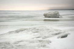 Winter ice sea.white ice Royalty Free Stock Photo