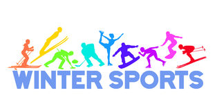 Winter Ice Snow Sports Background Stock Photography