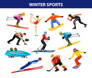 Winter Ice Snow Sports Set Royalty Free Stock Photos