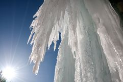 Winter icefall Stock Photos