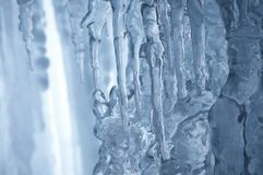 Winter icefall background Royalty Free Stock Photos