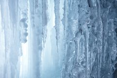 Winter icefall background Stock Photography