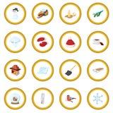 Winter icon circle Stock Photos