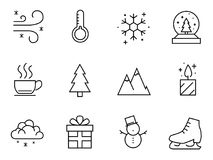 Winter icon pack Royalty Free Stock Photos