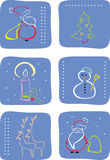 Winter icon set. Vector illustration of winter icon set Stock Photography