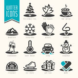 Winter icon set Royalty Free Stock Photography