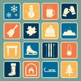 Winter icon Stock Photography