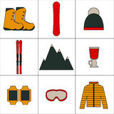 Winter icon set Royalty Free Stock Images